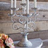 "19.5"" Distressed Candelabra"