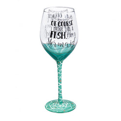 I'm a Mermaid - Coastal Wine Glass