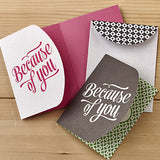 BECAUSE OF YOU - BOXED NOTE CARD SET