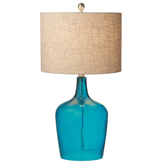 Blue Crackle Lamp