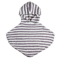 Vie Luxe™ Gray Chenille Baby Hooded Poncho