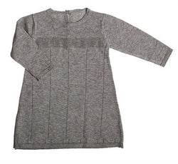 Long Sleeve Knit Dress, Gray