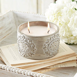 Concrete Citronella Candle
