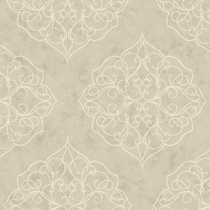 Rose Window Wallpaper by Antonina Vella Pattern #BH8345