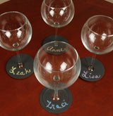 Chalkboard Wine Charms & Coasters - Set of 8