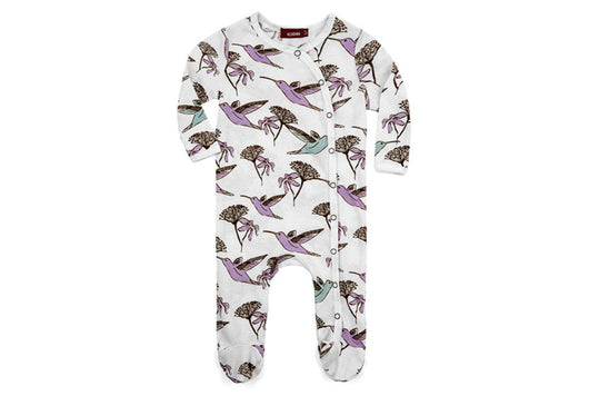 Hummingbird Footed Romper