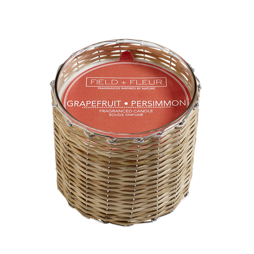 Field & Fluer- Grapefruit Persimmon Handwoven Candle