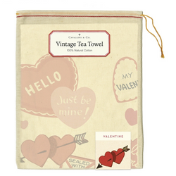 Valentine Hearts Tea Towel