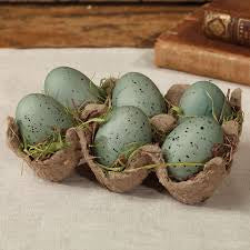 Blue Eggs in Tray