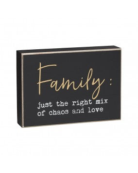 Family Chaos - Box Sign