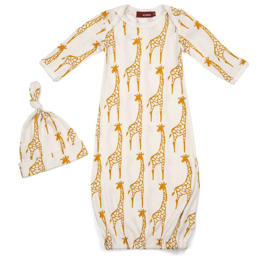 Gown and Hat Set, Giraffe