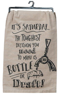 Bottle or Draft Tea Towel