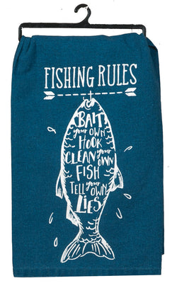 Fishing Rules Kitchen Towel