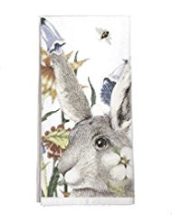 Rabbit & Flowers Kitchen Towel