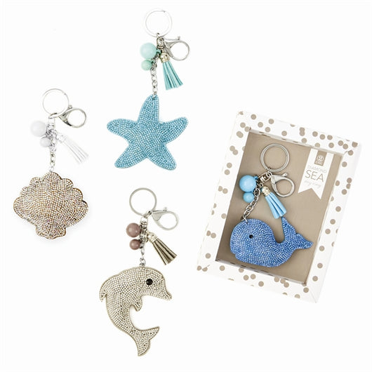 Diamond Seashore Keychain