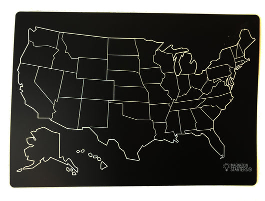 Kids Printed Chalkboard Placemat Singles