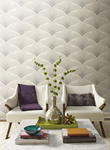Shimmering Fan Wallpaper by Antonina Vella Pattern #BH8302
