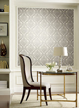 Tattersall Damask Wallpaper by Antonina Vella Pattern #MR643712