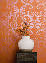 Pleat Medallion Wallpaper by Antonina Vella Pattern #63315