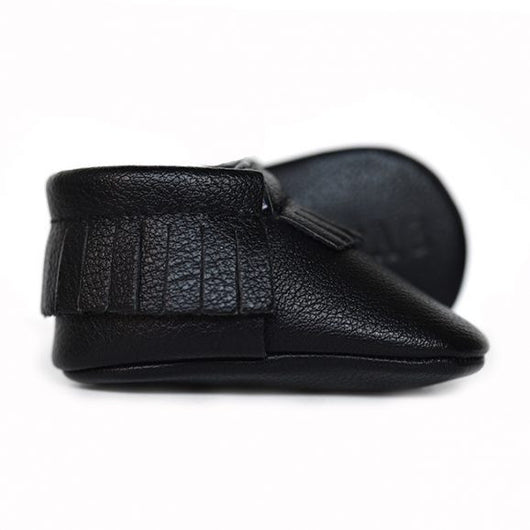 Shadow Black Baby Moccasins