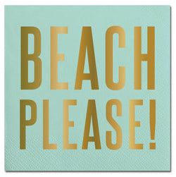 BEACH PLEASE COCKTAIL NAPKINS