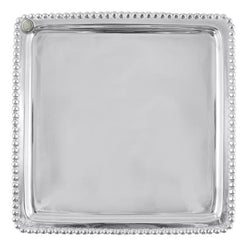 Charms Beaded Square Platter
