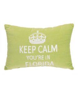 Keep Calm You're In Florida Pillow