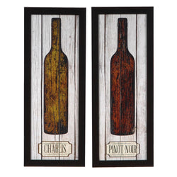CHABLIS AND PINOT NOIR FRAMED ART SET