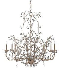 Currey & Company Crystal Bud Large Chandelier