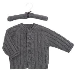 CABLE KNIT SWEATER CHARCOAL