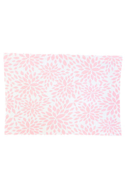 Dahlia Blush Pink Printed Cloth Placemats