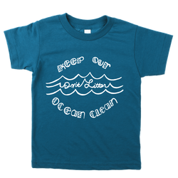 DON'T LITTER GALAXY BLUE ORGANIC TEE