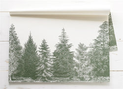 EVERGREEN TREES PAPER PLACEMATS