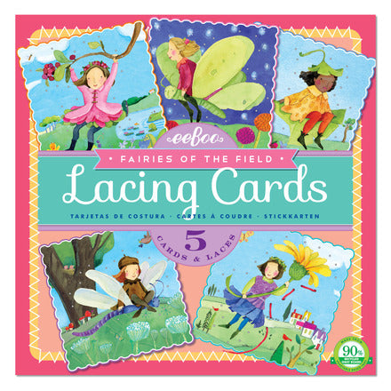 Fairies of the Field Square Lacing Cards