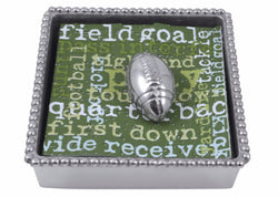 Football Beaded Napkin Box