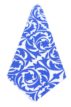 Garden Gate Santorini Blue Printed Cloth Dinner Napkins