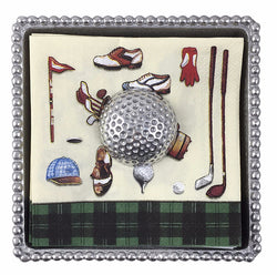 Golf Ball Beaded Napkin Box