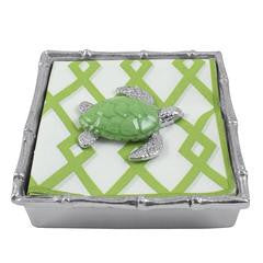 Green Turtle Bamboo Napkin Box