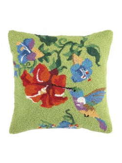 HUMMINGBIRD HOOKED PILLOW