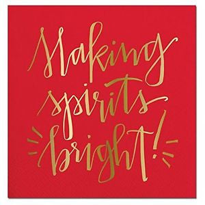 Making Spirits Bright - Cocktail Napkins