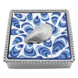 Mussel Beaded Napkin Box