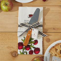 Dish Towel with Pie Server