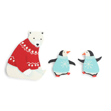 Polar Bear and Penguin Magnets