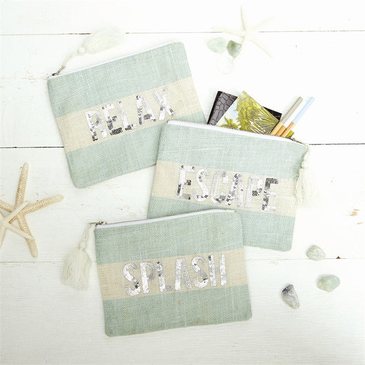 Seaside Sequin Pouch