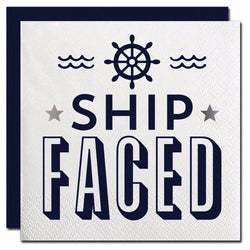 Ship Faced Cocktail Napkins