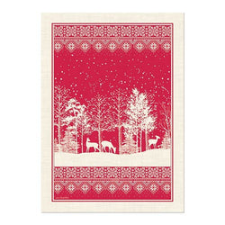 Snowy Night Kitchen Towel