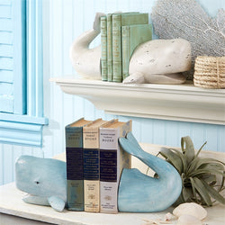 Whale Tale Bookend Set