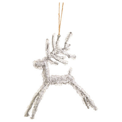 Iced Wire Deer Ornament