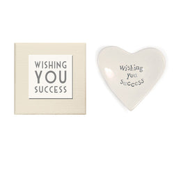 Wishing You Success Heart Dish