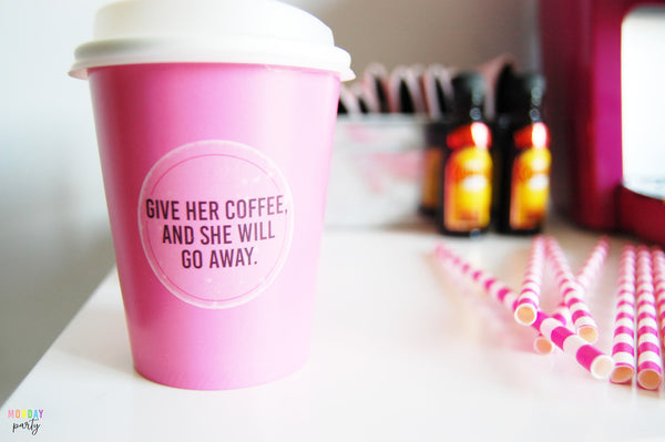 Give Her Coffee: Pink Cups